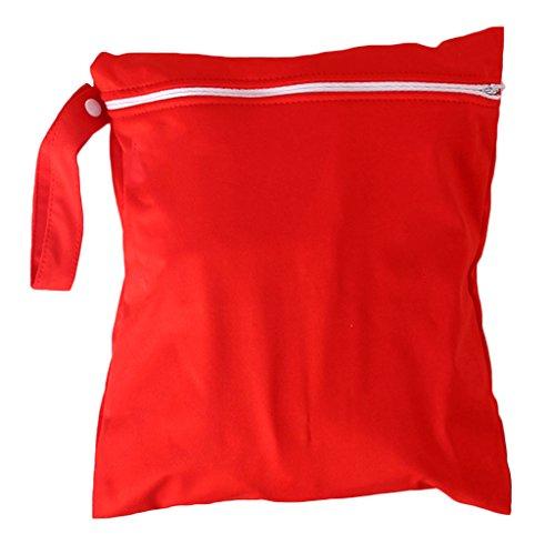 wasserdicht Reißverschluss Tasche waschbar wiederverwendbar Baby Tuch Windel Tasche rot