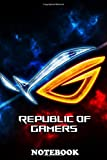 Notebook: Laptop Asus Gaming Rog Game Gamer Mouse Red Colorful St , Journal for Writing, College Ruled Size 6 x 9, 110 P