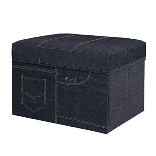 ALYR Faltbare Stauraum Sitzhocker Bank, multifunktionale platzsparende Cube Organizer Faltbare Aufbewahrungsbox,50L