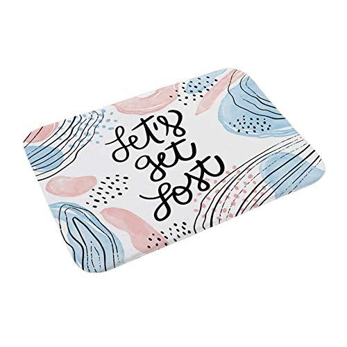 Lumanuby 1 x Resumen Digital impresión Antideslizante Felpudo absorción de Agua 'Let's Get Lost ...