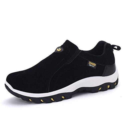 XIGUAFR Homme Chaussure d' Escalade Outdoor Loisir Chaussures de Sport Antidérapante Léger Classique Chaussures en Suédé A Enfiler Bas Loafers