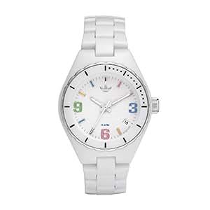 Adidas Originals - ADH2502 - Montre Femme - Quartz Analogique - Cadran Blanc - Bracelet Caoutchouc Blanc