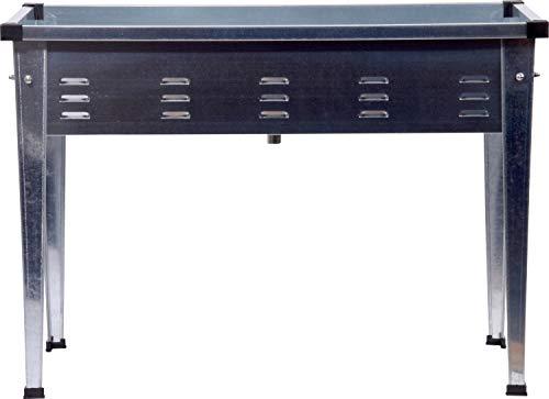 dobar Rechteckiges Tischbeet aus verzinktem Stahl, Robustes Garten, 101 x 44 x 71,5 cm, Silber Hochbeet