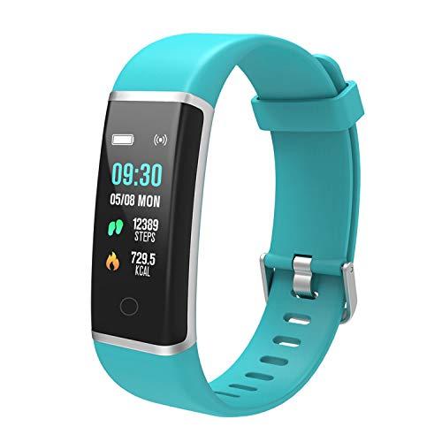 BingoFit Fitness Armband Uhr, Wasserdicht Fitness Tracker Schrittzähler Sport Uhr mit GPS Stopphur Schlafmonitor Kalorienzähler für Kinder Damen Herren mit iPhone Android