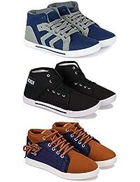 Bersache Men Combo Pack of 3 Casual Sneakers Shoes
