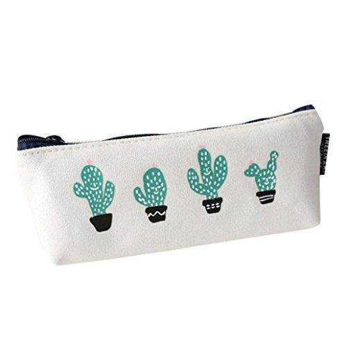 LSAltd Nette Pflanzen Print Schreibwaren Fall Bleistift Stift Fall Mode Kosmetik Make-Up Tasche Reißverschluss Pouch Fall Geldbörse Brieftasche (D) (Plaid Laptop-rucksäcke)
