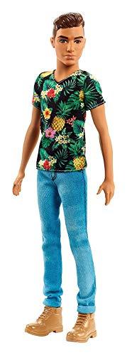 Barbie FJF73 Ken Fashionistas Puppe in Shirt mit Ananas-Print und Boots (Fashionista Barbie Ken Puppe)
