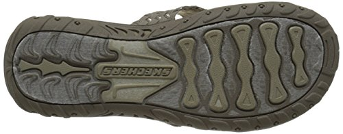 Skechers Reggae Rootsy Vibe Flip Flop Taupe/Silver