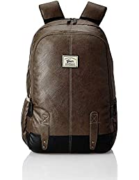 Gear Classic Anti Theft Faux Leather 20 Ltrs Brown Laptop Backpack (LBPCLSLTH0201)