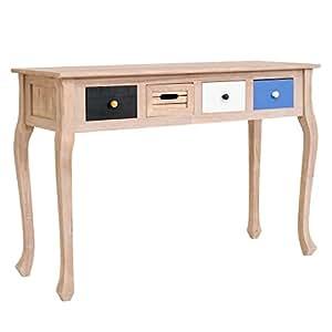 mobili rebecca scrittoio consolle 4 cassetti legno