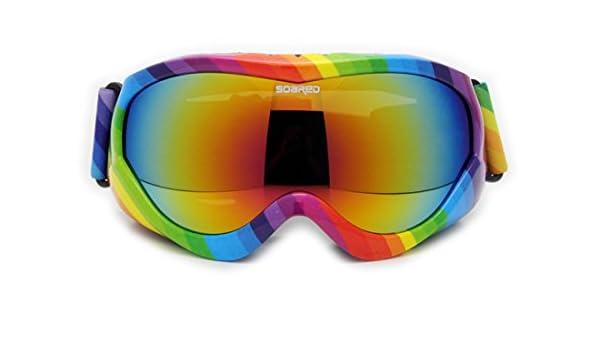 8-15 Jahre Alt Kinder Farbe Ski Brille Doppel Anti-Fog Wind Karte Myopie,D-OneSize