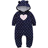 Heecaka Baby Rompers con Hat Boy Girl con Capucha Mono Infant Winter Outfits Set