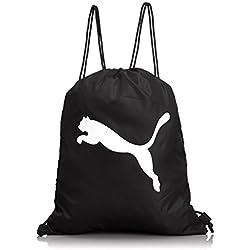 Puma Turnbeutel Pro Training Gym Sack - Bolsa para balones de fútbol, multicolor (black/white), 38 x 48 x 0.5 cm, 1.0 l