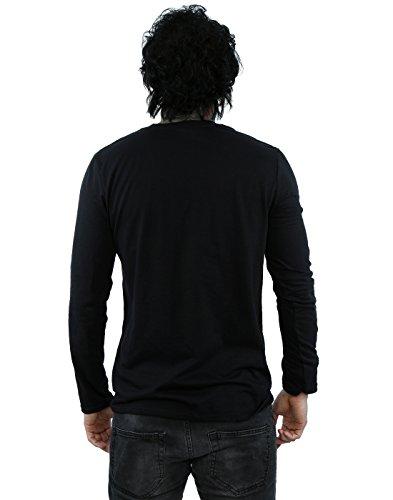 American Gods Herren Totem Logo Langärmelige T-Shirt Schwarz