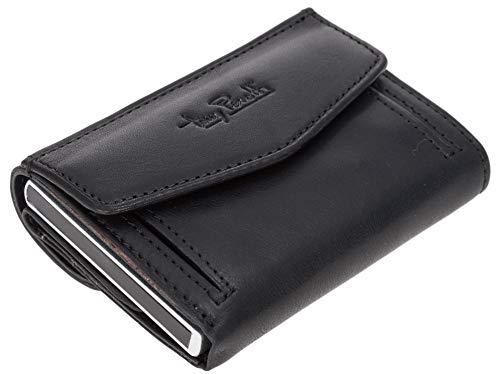 Leder Geldbörse Toni Perotti RFID Kreditkartenbörse Wallet Geldbeutel + Etui (Schwarz (TE/CC/3700ZW))