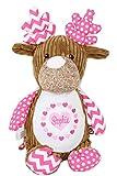 Geschenk für Baby oder Neugeborene - Stofftier Rentier pink personalisiert 45cm