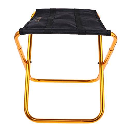 perfk Ultraleicht klappbar Sitzhocker Faltbar Klappstuhl für BBQ, Camping, Angeln, Reisen, Wandern,...