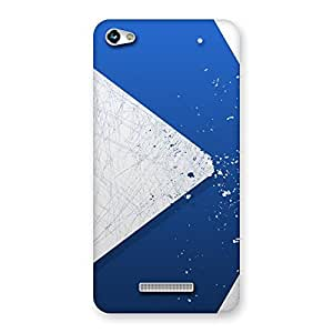 Enticing Blue Paint Work Job Back Case Cover for Micromax Hue 2
