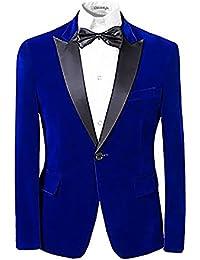 Hombres center-vent con un solo botón de solapa con muescas Blazer traje de Tuxedo vestido Casual Slim Fit chaquetas y pantalones