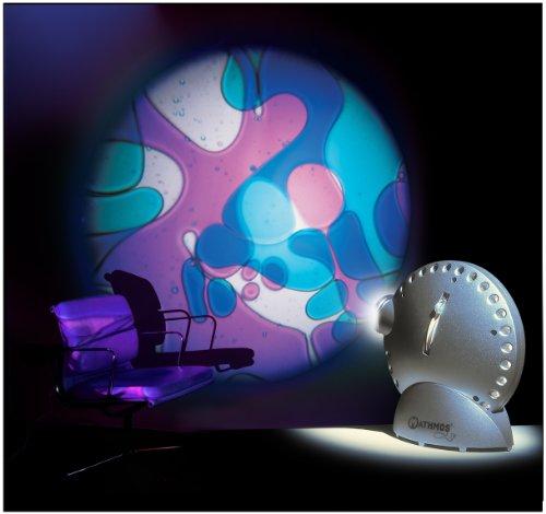 Mathmos Space Projektor in Silber mit Lavalampen Effekt Violett/Blau