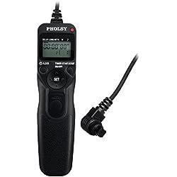 PHOLSY Télécommande Intervallomètre Timer TC-N3 pour Canon EOS 1Ds MarkII/III, 1D MarkIV, 1D MarkIII, 5D MarkIII, 5DS, 5D MarkII, 5D MarkIV, 5D, 6D, 7D MarkII, 7D, 50D, 40D, 30D, D60, D30, D2000