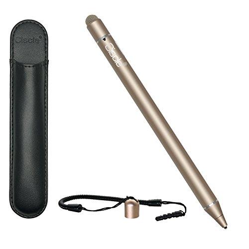 Ciscle Stylus Stift, 2 in 1 Active Stift mit 1,6 mm ultrafeiner Kupferspitze und 1 Faserspitze, Kompatibel mit iPhoneX, iPhone 8,iPad, iPad Pro, Samsung Tablet (Gold)