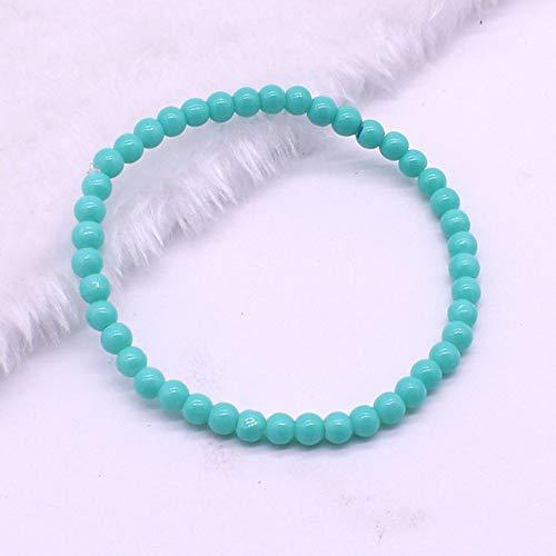 lonfenner Kristall Armreif,Kristall Glas Armband, Hellblau Perlen Armband, Weiblich Mode Armband Armband Mit Perlen Schmuck Geschenk