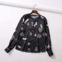 806aaa7fac Cnsdy Camisas para Mujeres Cuello Redondo Estampado Camisetas de Manga  Larga Camisas para Mujeres Camisetas de