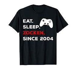 16. Geburtstag Mädchen Junge 2004 Gamer Zocker Geschenk T-Shirt