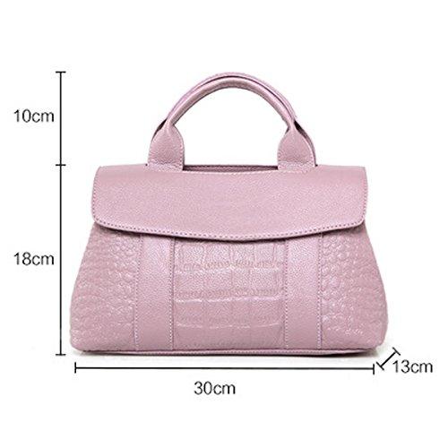 Art Und Weise Krokodil Drucken Top-Griff Umhängetasche Umhängetasche Handtasche Für Frauen Multicolor Blue