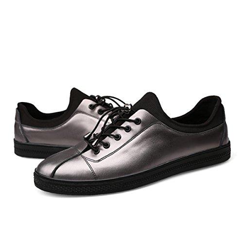 Chaussures Décontractées Mode Coréenne Respirante Chaussures Décontractées Tissu Extensible Argent