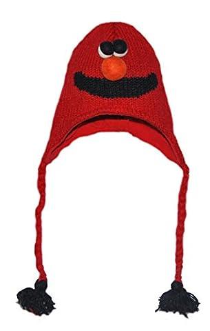 Ski Monstre Gratuit Costume - Bonnet/Chapeau Animal - Monstre Rouge Adulte -
