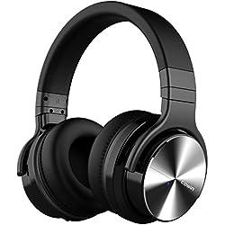 cowin E7 Pro [Mise à Jour] Casque Bluetooth Réduction de Bruit Active Casque sans Fil avec Microphone Casque Audio Autonomie De 30 Heures -Noir