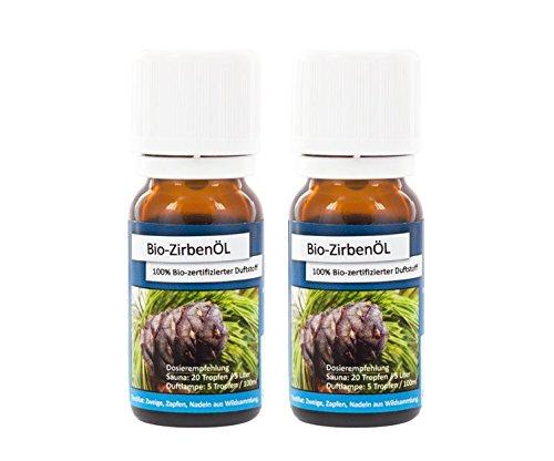 Bio-Zirbenöl | Doppelpackung | 2x 10ml
