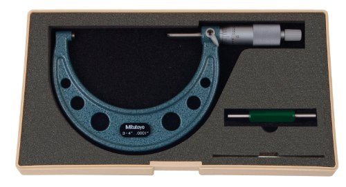 Mitutoyo 103-218 Series-103 Outside Micrometre with Ratchet Stop, 3