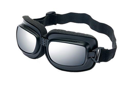 DBRILLE BIKERBRILLE Sonnenbrille -Retro MATT SCHWARZ ()