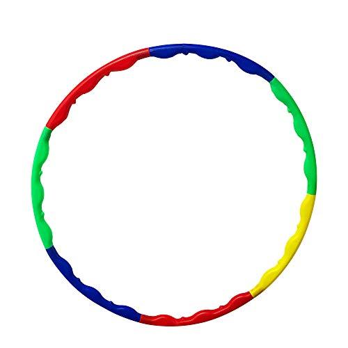 CERRXIAN Hula-Hoop-Reifen aus Kunststoff, 7-teilig, abnehmbar, für zusätzliches Gewicht für Erwachsene und Kinder, m