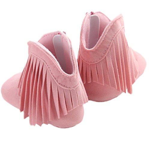 WAYLONGPLUS Baby-Kind-Mädchen Prewalker Baumwolle Anti-Rutsch Baby Stiefel Schuhe Pink