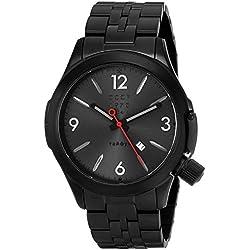 CCCP Herren cp-7010-44shchuka Analog Display Swiss Quartz Black Watch