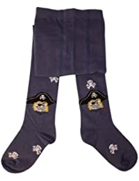Weri Spezials Kinderstrumpfhose, Piraten Kopf Motiv in Jeans