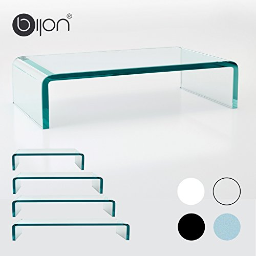 glasshop24 bijon® TV Glasaufsatz Monitor Erhöhung (B/T/H) 800x300x130mm - klar