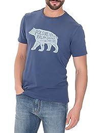 Ralph Lauren Homme A16KNC11CS1HHA4583 Bleu Coton T-Shirt