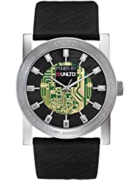 Marc Ecko Men's The Techno Dream Watch E10041G1 with Black Dial and Black Leather Strap
