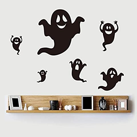 Clode® Halloween Felice Fantasma Nero Wall Sticker Finestra Della Decorazione
