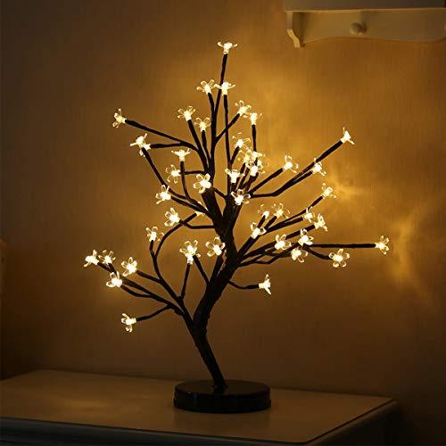 Chennie Bonsai Tree Light, Branches Noires, Parfait pour la décoration de fêtes en Plein air (Color : Warm)