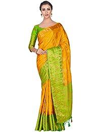 b486f0dfb47f1b Mimosa Art silk saree Kanjivarm Pattu style With Contrast Blouse Color: Gold  (4316-