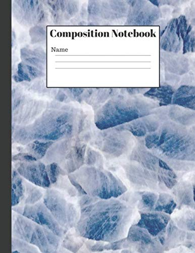 Composition Notebook:: White Marble Wide Ruled Blank Lined Cute Notebooks (110 Page Duos Sided) for Girls Teens Kids School Writing Notes Journal Duo Notebook
