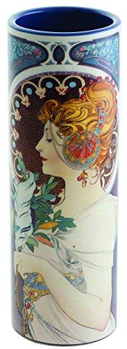 John Beswick Mucha Echte Schlüsselblume klein Keramik Art Vase 18Höhe x 6Durchmesser cms Parastone Dartington (Le Chat Noir-malerei)