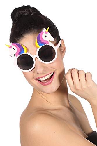 Einhorn-Brille Regenbogen Rainbow Unicorn Märchen dunkle Gläser Spaß-Brille Scherz-Artikel Hochwertiges Kostüm-Zubehör Party-Accessoire Karneval Fasching Fastnacht Mottopartys Einheitsgröße (Märchen Kostüme Accessoires)