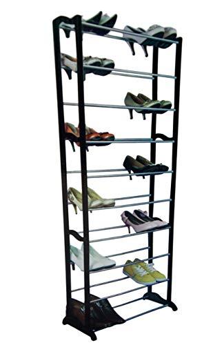 Bayli Zapatero con 10 estantes para hasta 30 Pares de Zapatos, Estante XXL - 137,5 cm x 65 cm x 16 cm...
